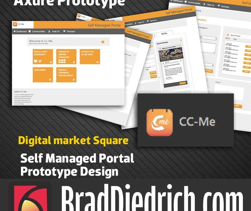 CC-Me Self Managed Portal Axure Prototype