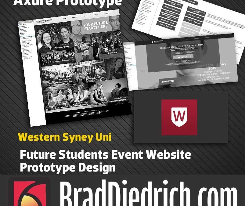 WSU Future Student Event Website Axure Prototype