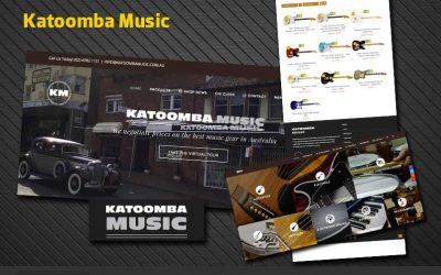 Website Design and Social Media Marketing for Katoomba Music